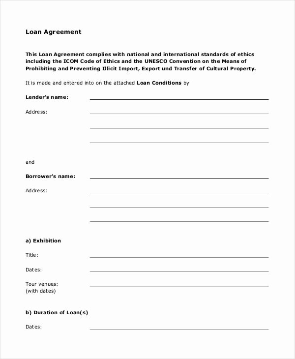 Personal Loan Document Template Beautiful Loan Agreement form 14 Free Pdf Documents Download