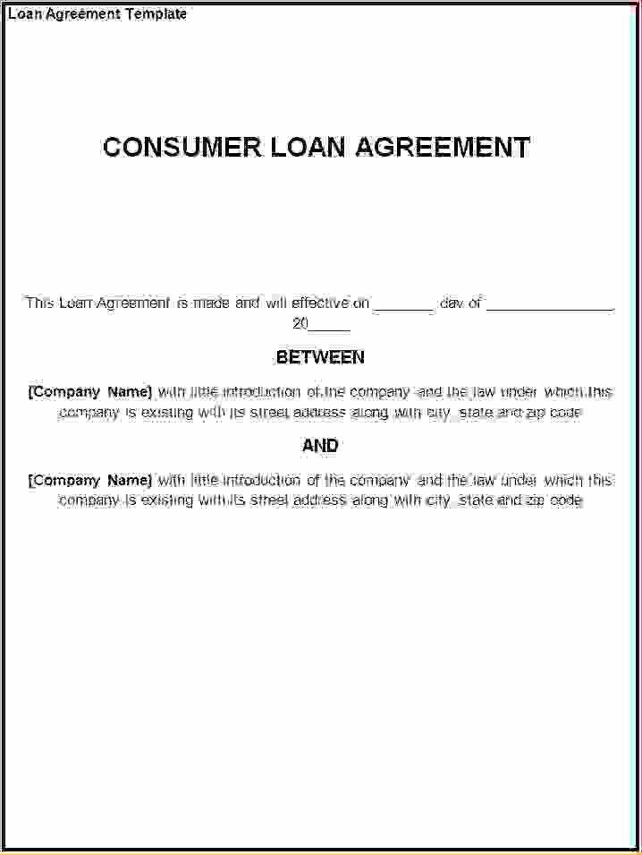 Personal Loan Document Template Luxury 5 Sample Personal Loan Agreementreport Template Document