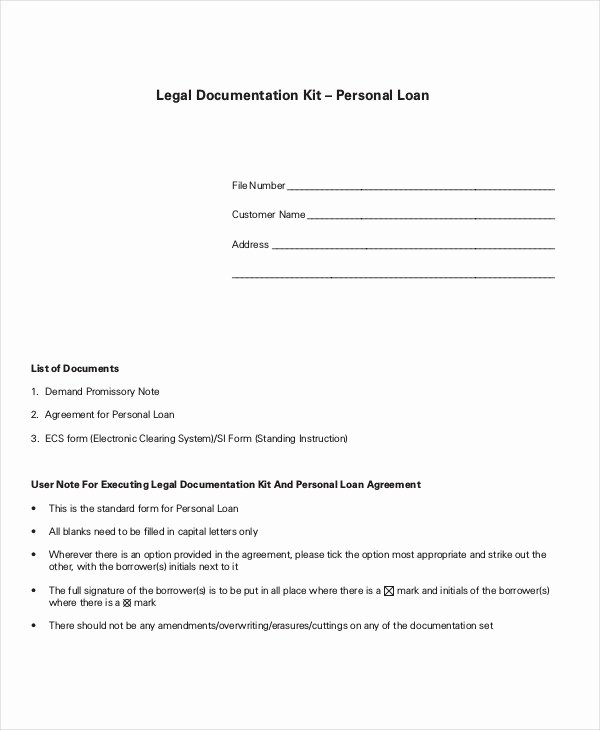 Personal Loan Document Template New Loan Agreement Template 17 Free Word Pdf Document
