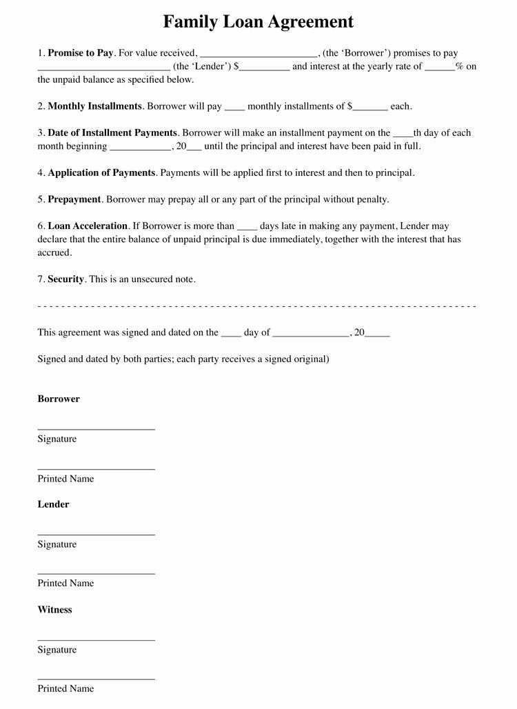 Personal Loan Document Template Unique 45 Loan Agreement Templates & Samples Write Perfect
