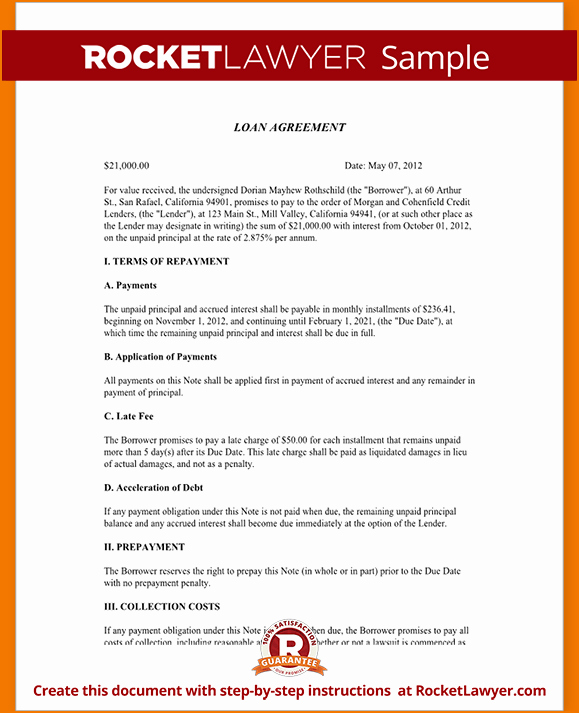 Personal Loan Documents Template Inspirational 5 Sample Personal Loan Agreement