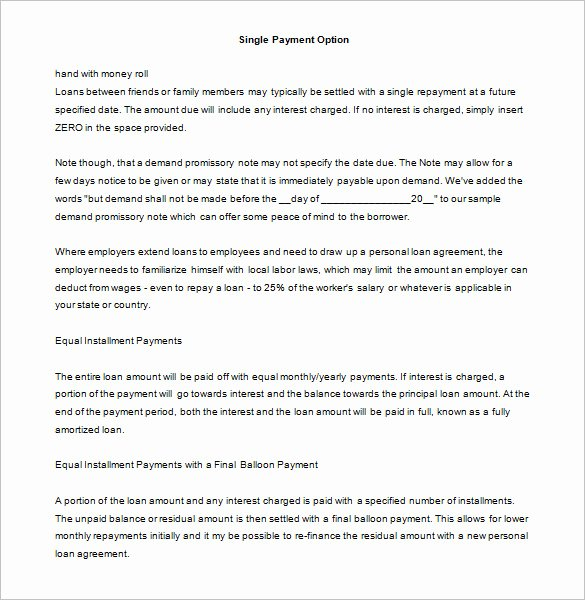 Personal Loan Promissory Note Template Awesome 35 Promissory Note Templates Doc Pdf