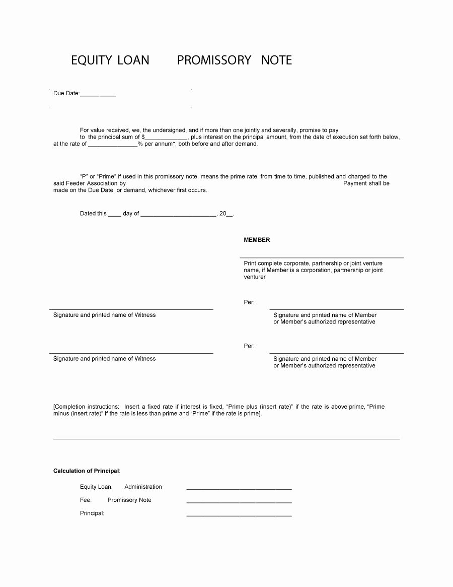 Personal Loan Promissory Note Template Best Of 45 Free Promissory Note Templates & forms [word & Pdf]
