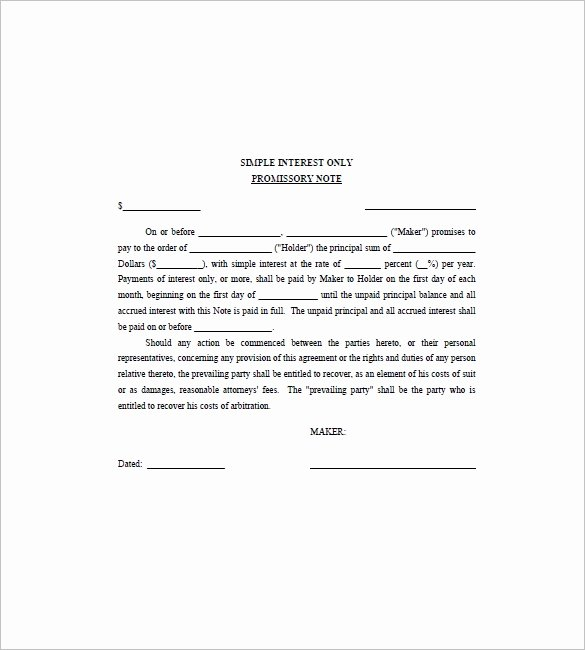 Personal Loan Promissory Note Template Fresh 8 Note Template for Personal Loan Templates – Free Sample
