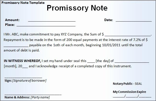 Personal Loan Promissory Note Template Fresh Pay F Your Debt today Using the Government S Money