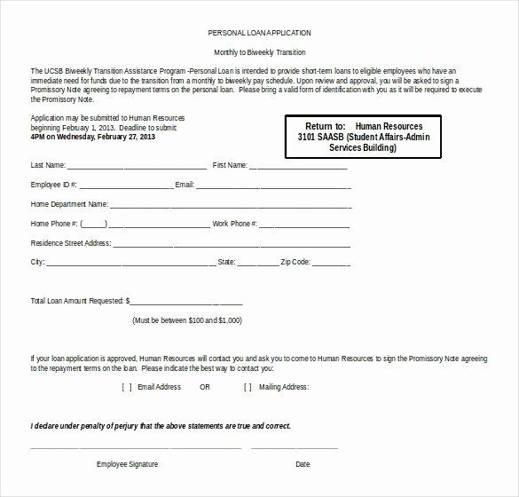 Personal Loan Template Free Beautiful 16 Microsoft Word 2010 Application Templates Free