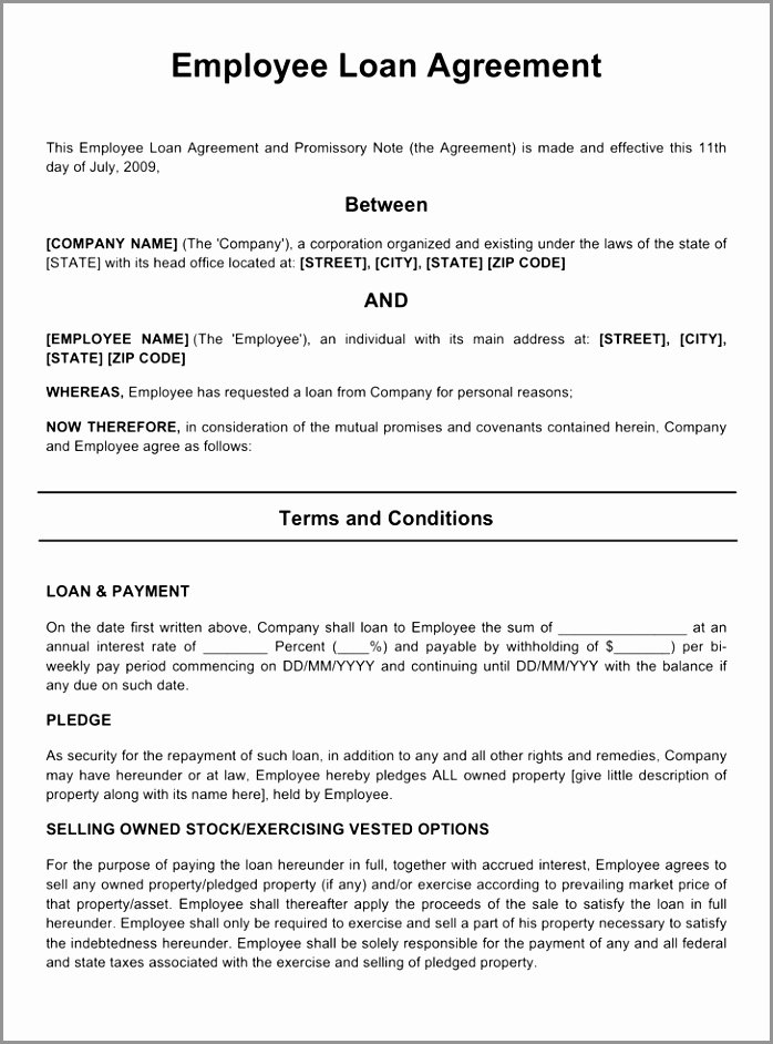 Personal Loan Template Free Beautiful 6 Personal Loan Agreement Template Free Download Aeror