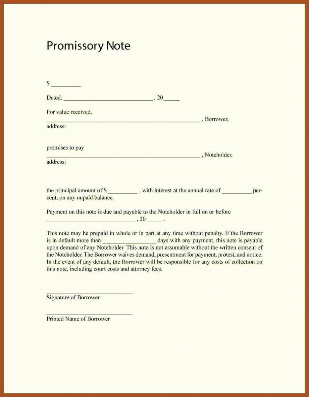 Personal Loan Template Free Beautiful Free Promissory Note Template Word Pdf