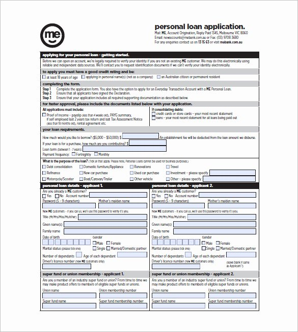 Personal Loan Template Free Best Of 8 Note Template for Personal Loan Templates – Free Sample