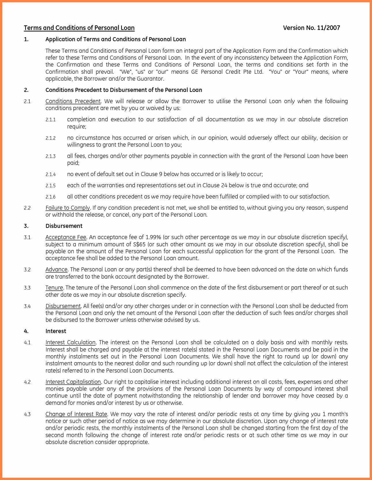 Personal Loan Template Free Fresh 8 Personal Loan Agreement Template Microsoft Word