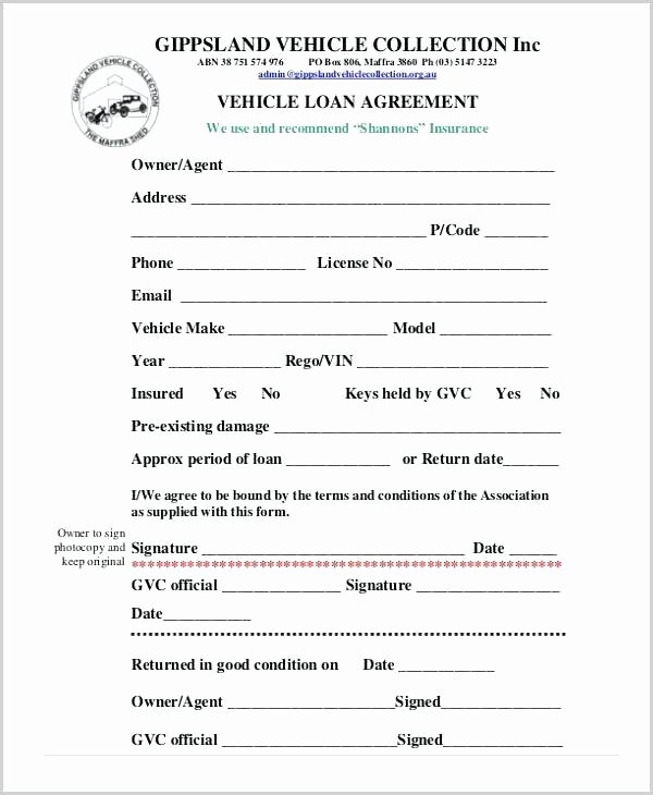 Personal Loan Template Free Lovely 7 Personal Loan Agreement Template Free Generic Document