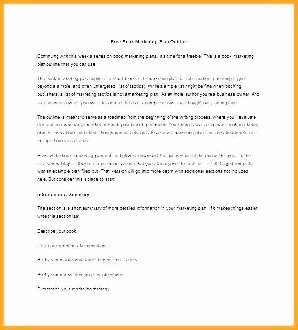 Personal Marketing Plan Template Beautiful Free Book Marketing Plan Template Personal – Btcromaniafo