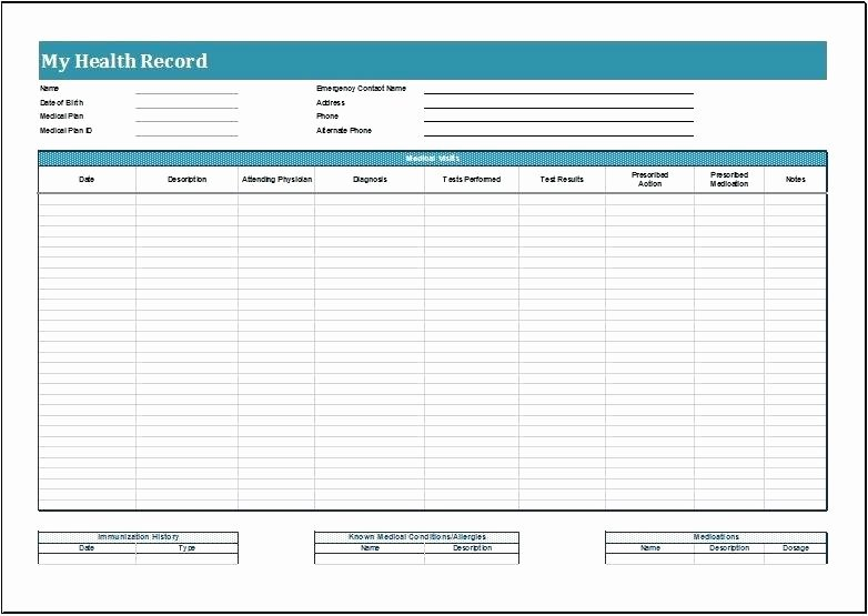 Personal Medical Record Template Awesome Template Personal Medical Records Template