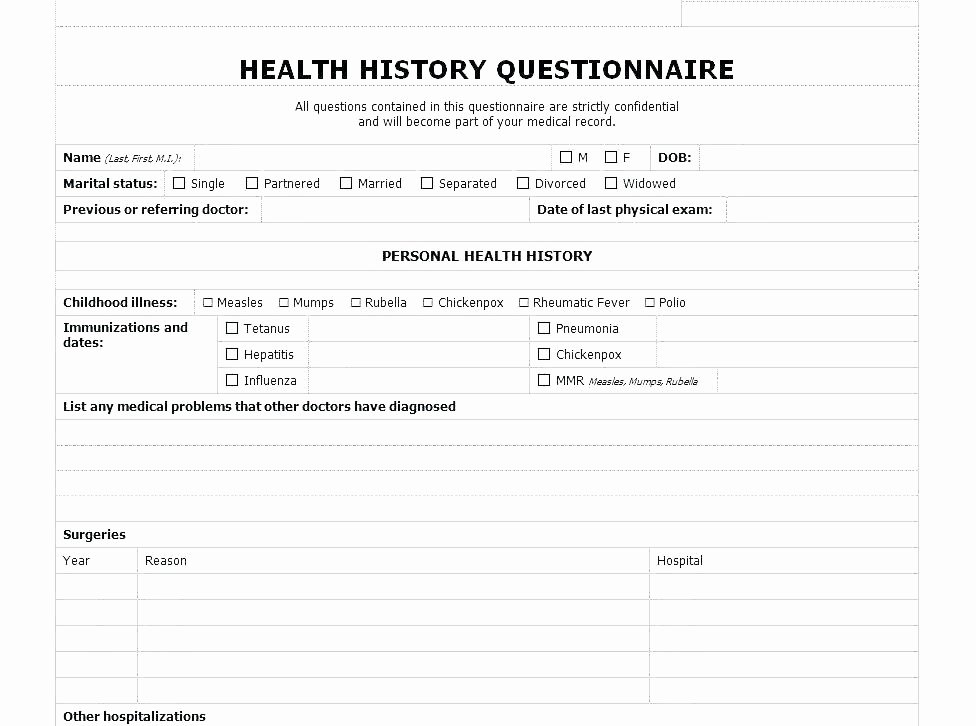 Personal Medical Record Template Lovely Personal Medical Journal Template Free Printable Family
