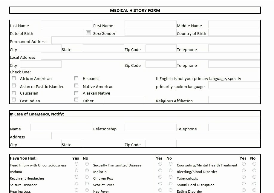 Personal Medical Record Template Luxury Personal Medical Records Template Release form Awesome