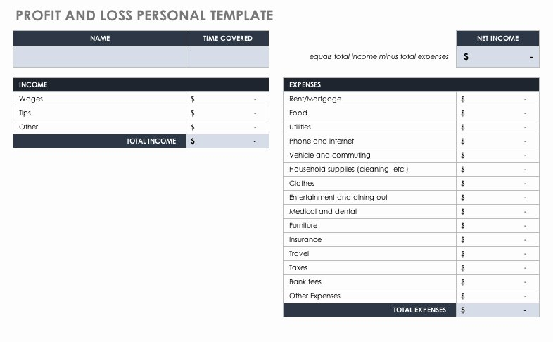 Personal Profit and Loss Template Inspirational How to Use Profit and Loss Templates