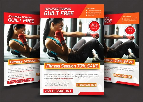 Personal Trainer Flyer Template Beautiful 21 Fitness Flyer Templates