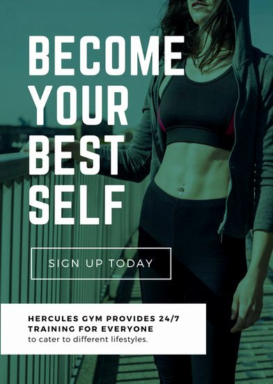Personal Trainer Flyer Template Best Of Customize 102 Fitness Flyer Templates Online Canva
