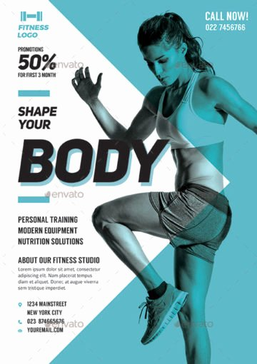 Personal Trainer Flyer Template Elegant Download the Best Fitness and Gym Flyer Templates for