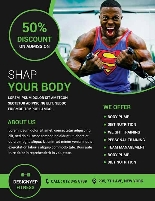 Personal Trainer Flyer Template Fresh Download Gym and Fitness Free Flyer Psd Template