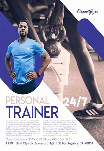 Personal Trainer Flyer Template Fresh Fitness Gym – Free Flyer Psd Template – by Elegantflyer