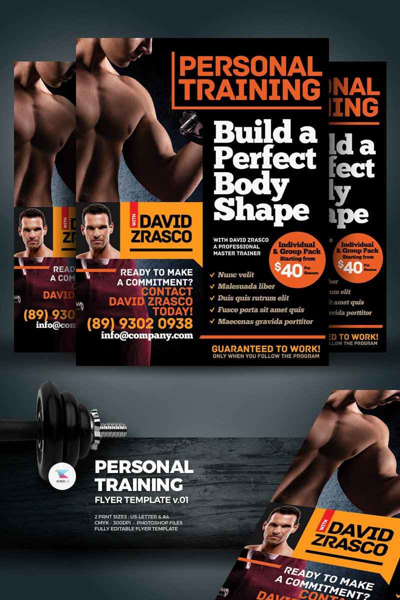 Personal Trainer Flyer Template Fresh Personal Training Flyer Corporate Identity Template