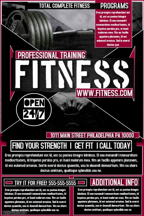 Personal Trainer Flyer Template Inspirational Fitness Flyer Template