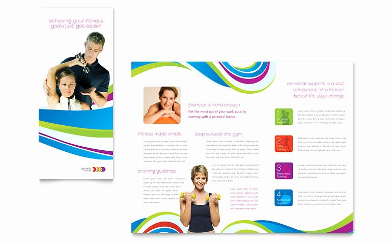 Personal Trainer Flyer Template Inspirational Personal Trainer Brochure Template Word & Publisher