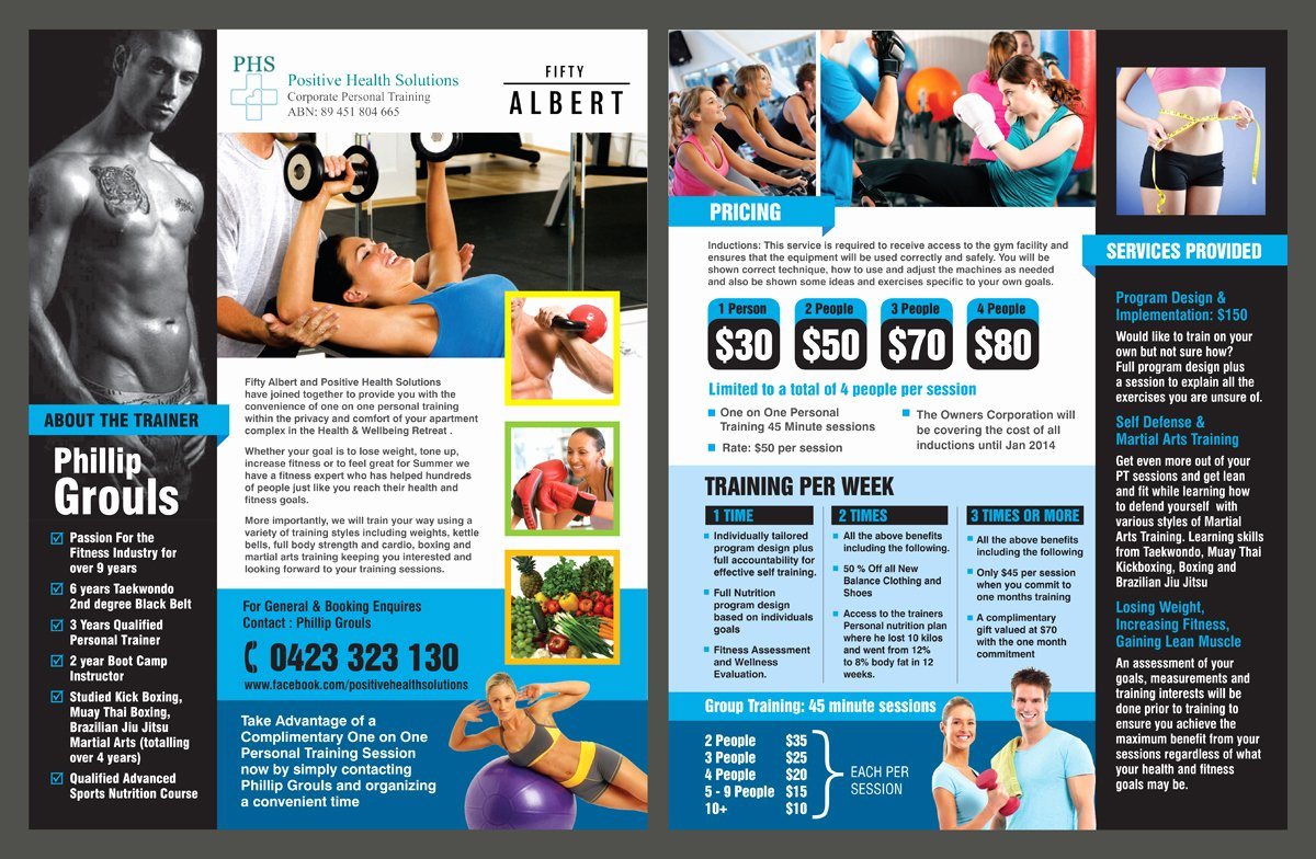 Personal Trainer Flyer Template Inspirational Personal Training Flyer Design Yourweek Eca25e