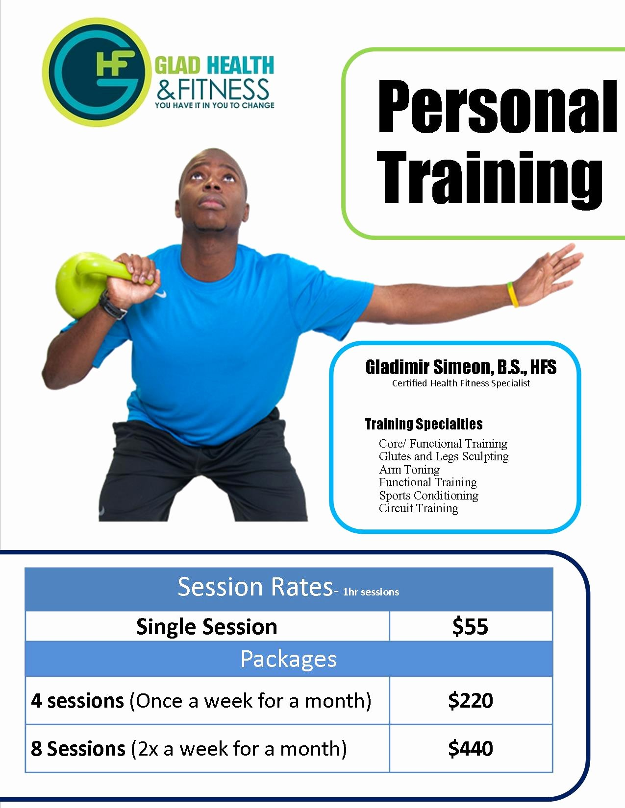 Personal Trainer Flyer Template Luxury Personal Training Flyers Templates