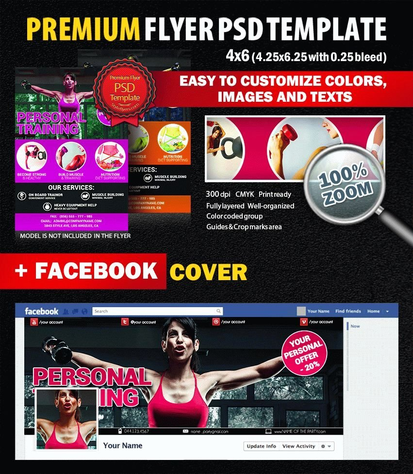 Personal Trainer Flyer Template Luxury Personal Training Psd Flyer Template 8298 Styleflyers