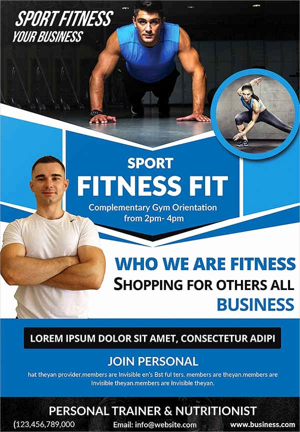 Personal Trainer Flyer Template New 23 Fitness Flyer Designs Psd Word Publisher