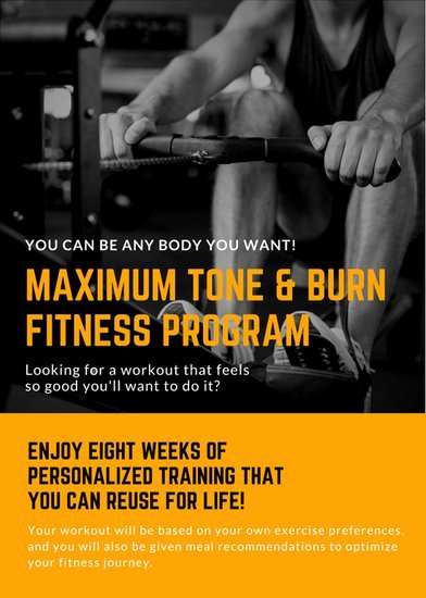 Personal Trainer Flyer Template New Fitness Flyer Templates Canva