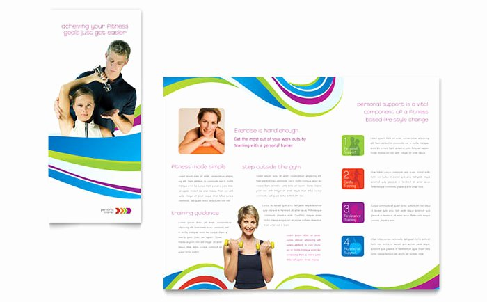 Personal Trainer Flyer Template New Personal Trainer Brochure Template Design