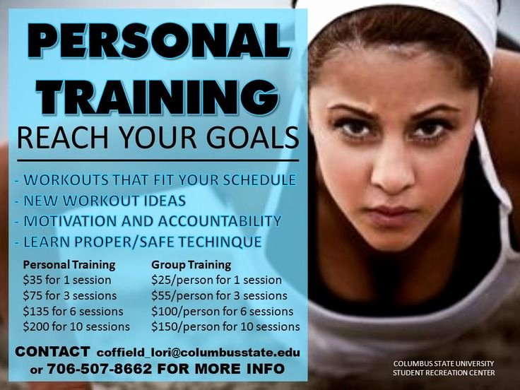 Personal Trainer Flyer Template New Personal Training Home Gym Ideas