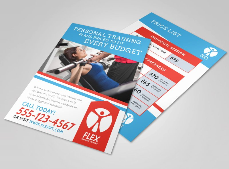 Personal Trainer Flyer Template New Personal Training Pricing Flyer Template