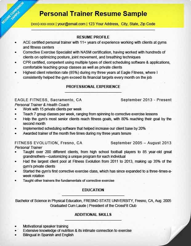 Personal Trainer Resume Template New How to Write A Resume Step by Step Guide