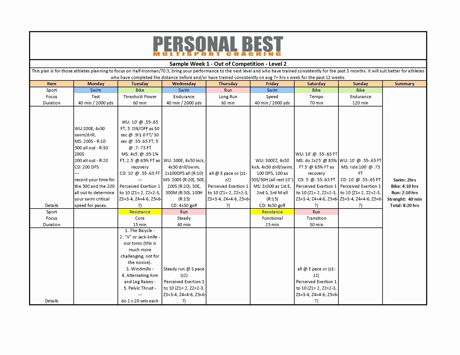 Personal Trainer Workout Plan Template Awesome Template Transition Plan Template Ppt