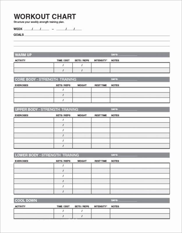 Personal Trainer Workout Plan Template Lovely Workout Templates for Personal Trainers