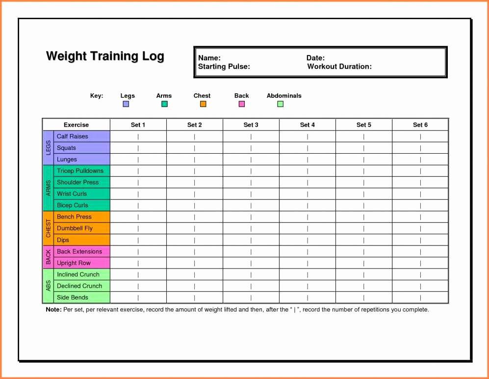 Personal Trainer Workout Plan Template Unique Personal Training Tracking Sheet Workout Training Sheet