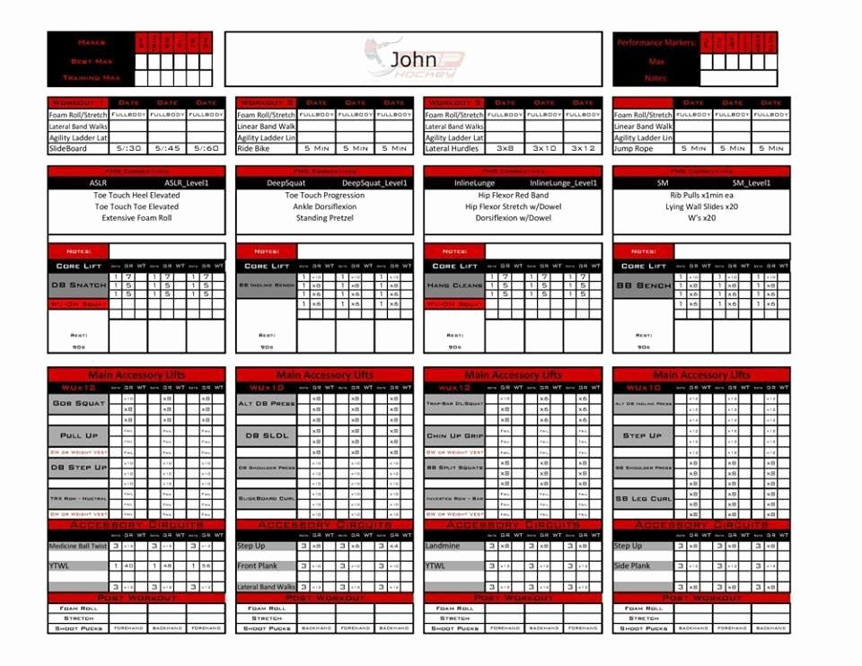 Personal Trainer Workout Template Elegant Excel Personal Training Templates Fitness Industry
