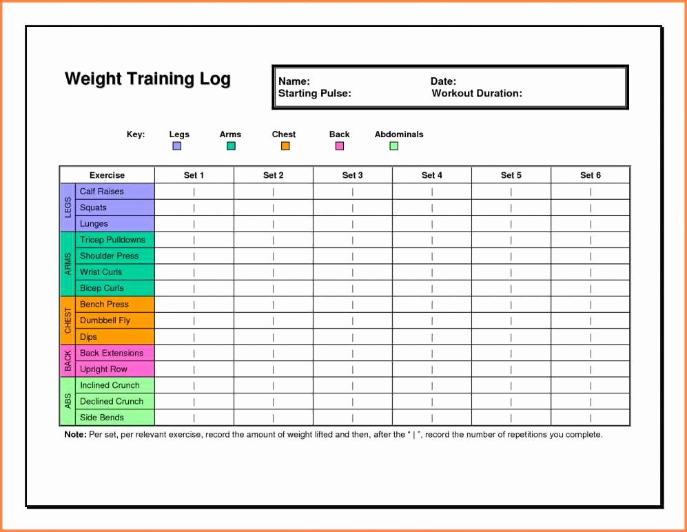 Personal Trainer Workout Template Fresh Personal Training Tracking Sheet Workout Training Sheet