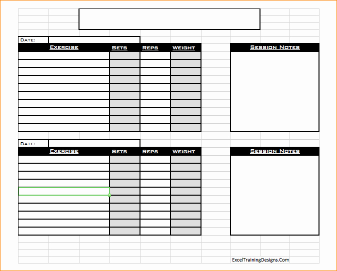 Personal Trainer Workout Template New Free Personal Training Excel Templates Fitness Schedule