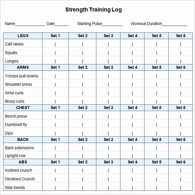 Personal Training Program Template Beautiful Workout Template Excel