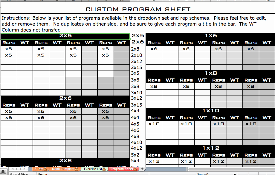Personal Training Program Template Best Of Personal Trainer Workout Plan Template Eoua Blog