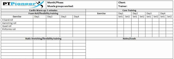 Personal Training Program Template Lovely Workout Schedule Template Your Clients Will Love You