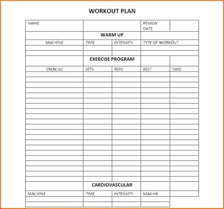 Personal Training Programme Template Fresh astonishing Personal Training Program Design Templates