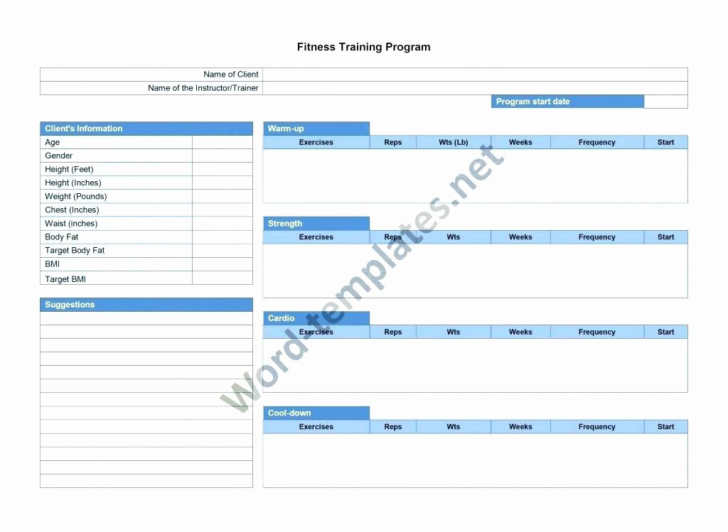 Personal Training Programme Template Luxury Training Session Plan Template Uk Sample – Tangledbeard