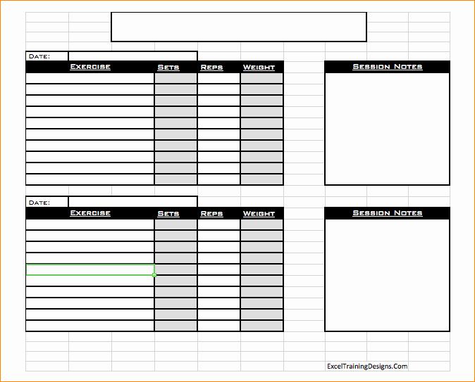 Personal Training Programs Template Luxury Free Personal Training Excel Templates Fitness Schedule