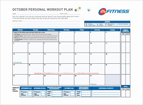 Personal Training Programs Template Luxury Workout Schedule Template 6 Free Sample Example format